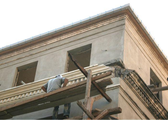 Eski Liman Başkanlığı Binası Dış Cephe Horasan Sıva Yapımı