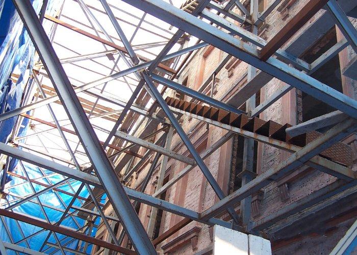 Binanın Dış Duvarlarının Çelik Sistem İle Tutulması