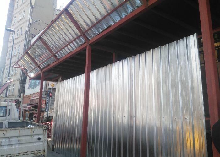 Tarlabaşı Önder Akyürek evi Restorasyon Demir İskele