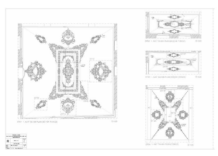 Turi Sina Manastır Kütüphanesi Tavan Süsleri