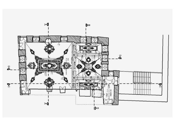 Tur-i Sina Manastır Kütüphanesi Tavan Planı