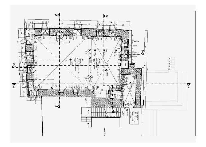 Tur-i Sina Manastır Kütüphanesi KIat Planı (Rölöve)