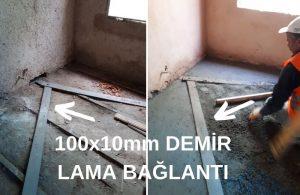 100X10mm demir lama bağlantı
